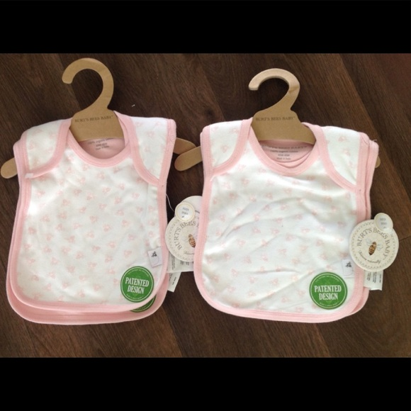 afd10d2fe Burt's Bees Baby Accessories | Four Pink Nwt Burts Bees Baby Bibs ...